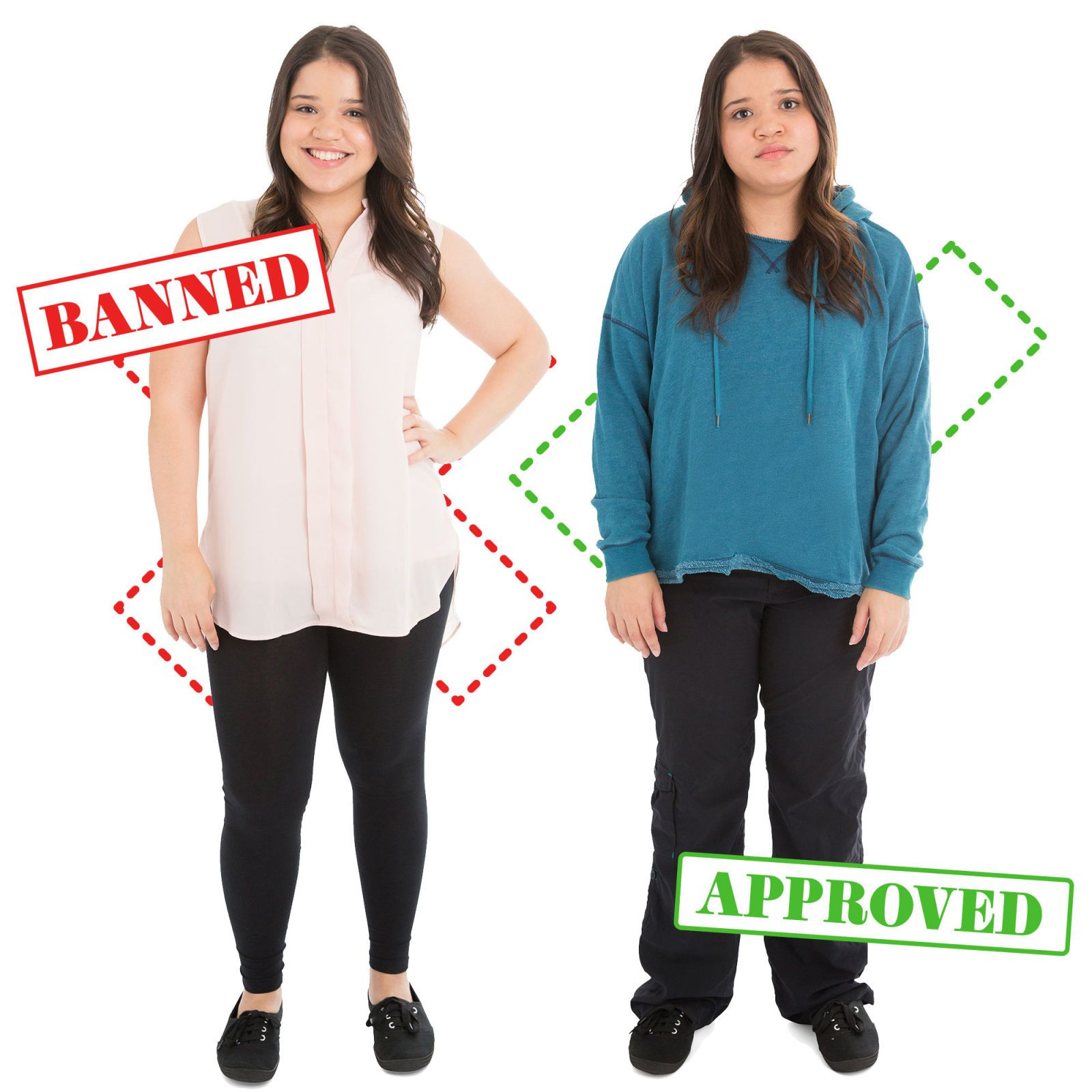 10 Banned Vs. Approved Outfits That Show How Ridiculous