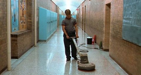 Floor, Flooring, Standing, Wall, Concrete, Cleanliness, Tile, Cleaner, Baggage,