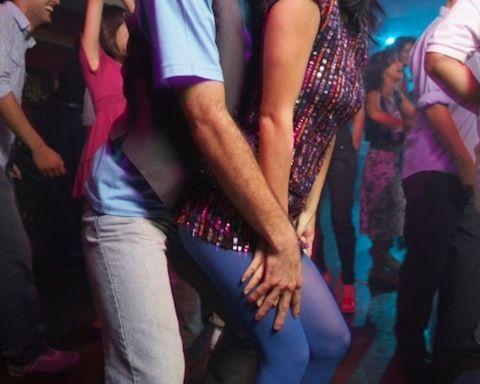 Arm, Fun, Entertainment, Magenta, Interaction, Thigh, Party, Dance, Hip, Dancer,