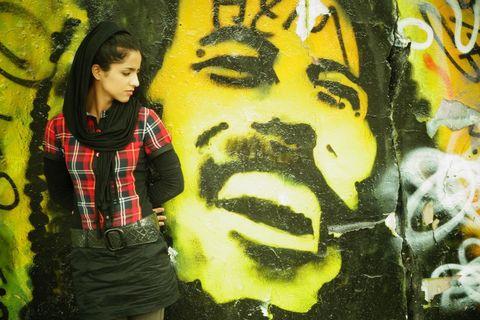 Yellow, Graffiti, Tartan, Plaid, Wall, Mural, Street art, Art, Paint, Tints and shades,