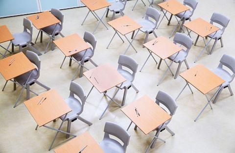 Furniture, Floor, Flooring, Chair, Beige, Design, Material property, Plywood, Hall, Tile flooring,