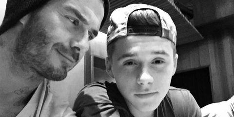 David and Brooklyn Beckham