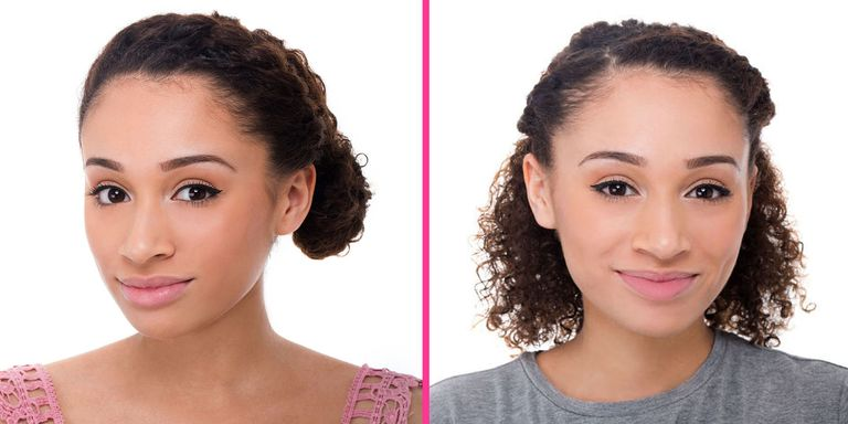 2 super chic curly hairstyles you can totally do yourself beauty smartie lisette shows you how to give your strands a quick dose of glam with these easy to achieve looks solutioingenieria Image collections