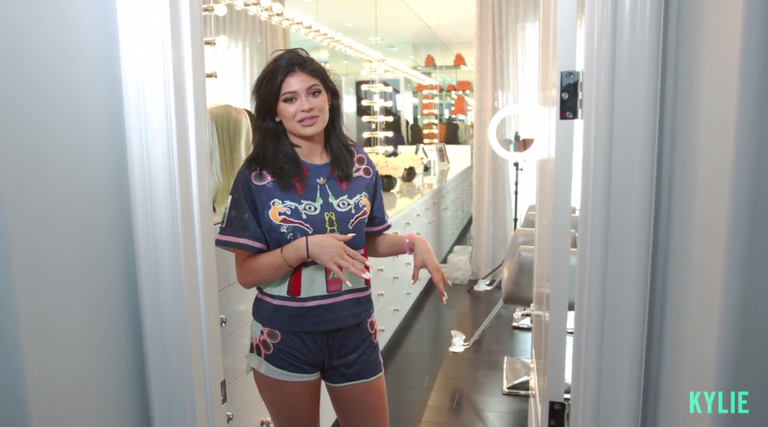 Kylie Jenner Has an Actual Selfie Mirror in Her Glam Room