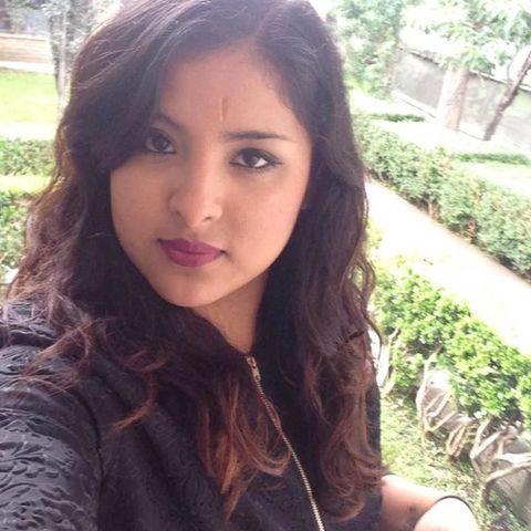 Lip, Brown, Hairstyle, Chin, Forehead, Eyebrow, Black hair, Long hair, Beauty, Sunlight,