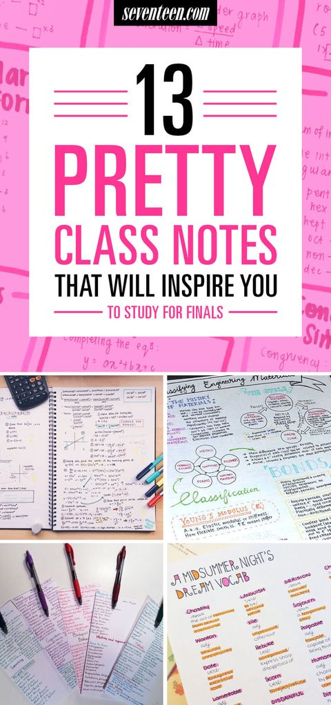 13 Pretty Pictures Of Class Notes That Will Inspire You To Actually