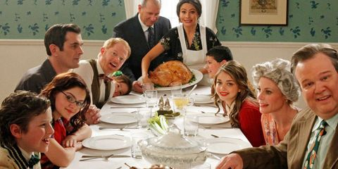 Image result for image of thanksgiving meal with family