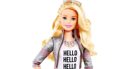 Toy, Pink, Fashion accessory, Style, Eyelash, Long hair, Blond, Doll, Magenta, Lavender,