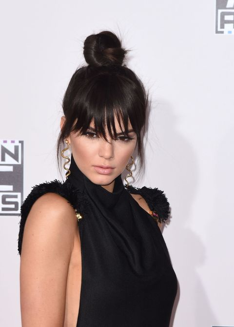 Get Kendall Jenner S Faux Bangs With This Genius Hair Tutorial