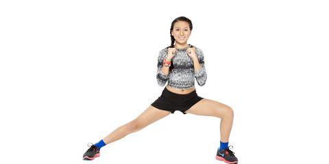 Sleeve, Shoulder, Human leg, Joint, Elbow, Standing, Shorts, Knee, Waist, Thigh,