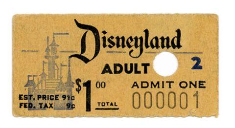 Disneyland first ticket