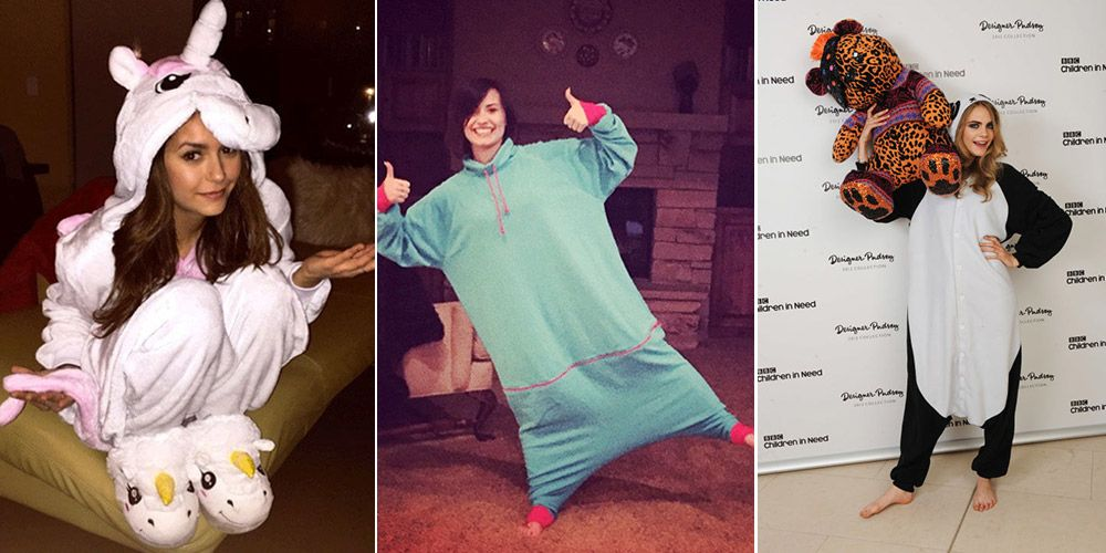 17 Celebrities Rocking Onesies and Winning at Life