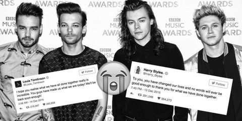 One Direction Final Tweets
