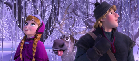 Purple, Animation, Violet, Costume accessory, Fictional character, Lavender, Animated cartoon, Snout, Costume hat, Fur,