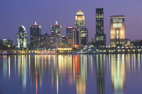 Reflection, Metropolitan area, Tower block, City, Night, Urban area, Metropolis, Cityscape, Condominium, Commercial building,