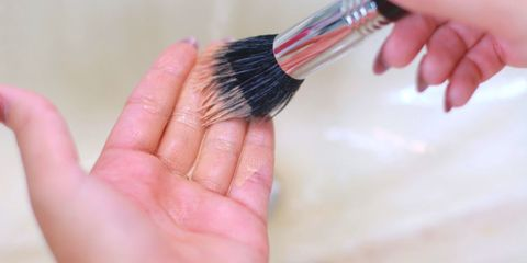 Finger, Skin, Brush, Pink, Nail, Organ, Thumb, Cosmetics, Razor, Makeup brushes,