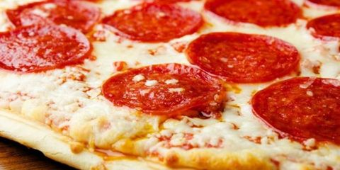 Food, Pizza, Ingredient, Cuisine, Dish, Baked goods, Fast food, Recipe, Flatbread, Pepperoni,