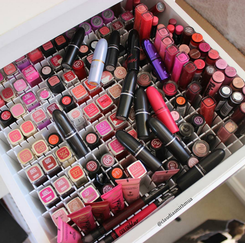 Pink, Lipstick, Tints and shades, Carmine, Cosmetics, Beauty, Bottle, Collection, Material property, Peach,