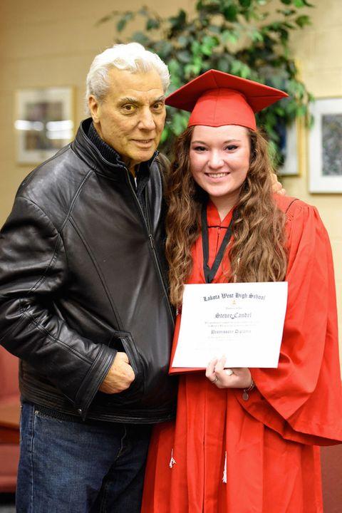 Academic dress, Scholar, Jacket, Jeans, Graduation, Mortarboard, Collar, Headgear, Phd, Leather jacket,