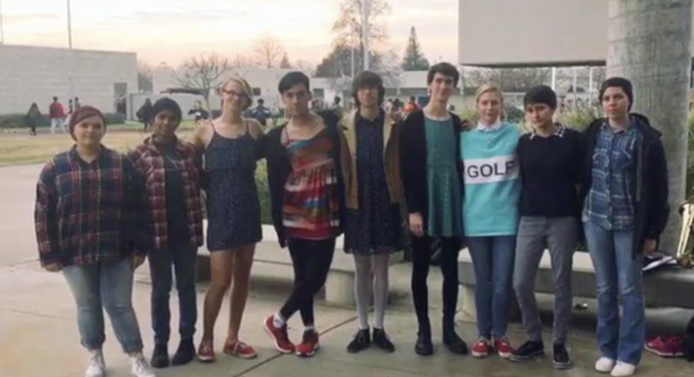 School Boys in Dresses