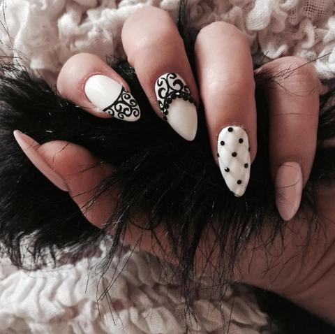 Finger, Skin, Nail, Liquid, Style, Black, Nail polish, Nail care, Manicure, Natural material,