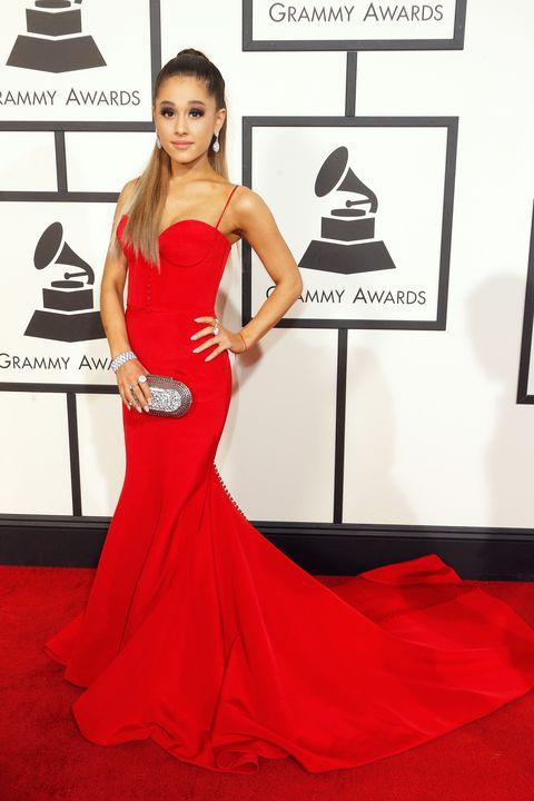 Dress, Shoulder, Red, Flooring, Style, Gown, Formal wear, Fashion accessory, One-piece garment, Fashion model,