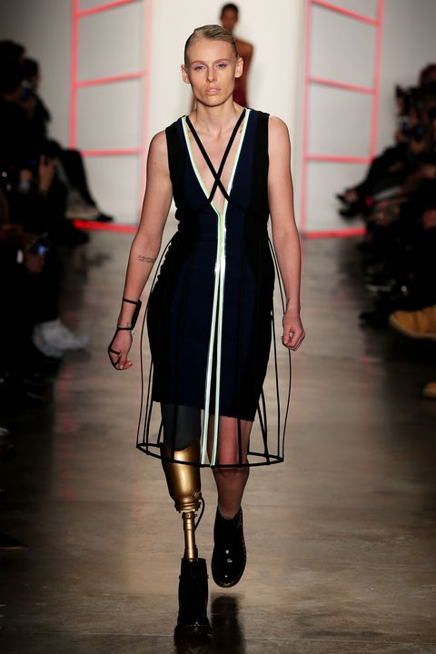 46d492b44ce The Model Who Lost Her Leg to TSS Just Made Her Fashion Week Debut