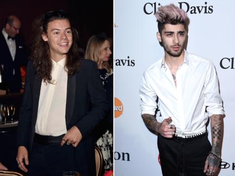 c834ebaa4b91 Awkward: Harry Styles and Zayn Malik Were at the Same Pre-Grammys Party