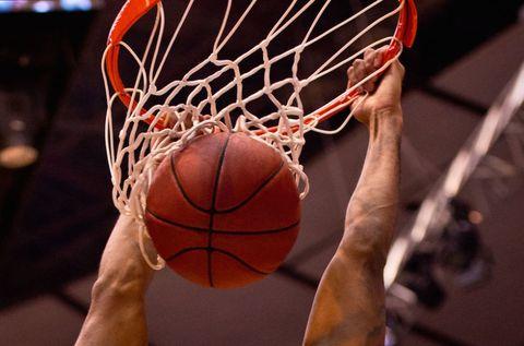 Basketball, Ball, Sports equipment, Sport venue, Ball game, Team sport, Net, Basketball, Basketball hoop, Sports,