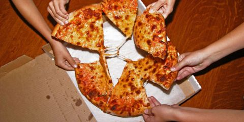 Finger, Food, Cuisine, Pizza, Hand, Ingredient, Dish, Plate, Baked goods, Recipe,