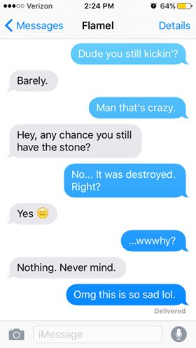 harry potter mean texts