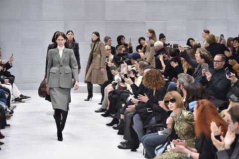Trousers, Outerwear, Style, Coat, Winter, Fashion show, Jacket, Street fashion, Runway, Fashion,