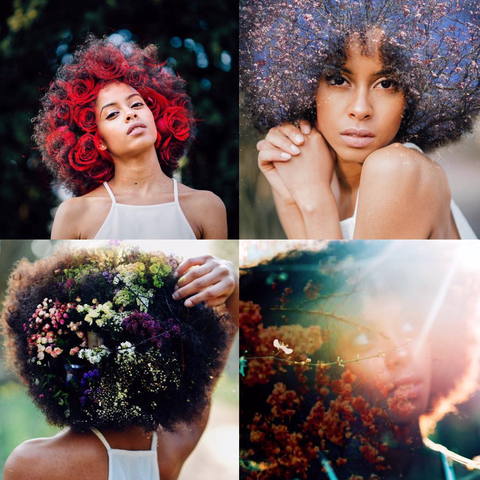 Human, Blue, Hairstyle, Style, Red hair, Colorfulness, Purple, Beauty, Fashion, Collage,