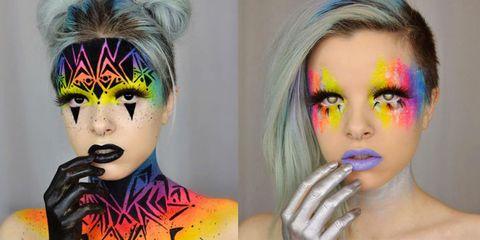 Lip, Hairstyle, Eyelash, Eyebrow, Colorfulness, Style, Pink, Purple, Violet, Iris,