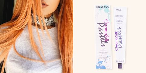 """<p><strong>Use:<em> Pravana Chroma Silk Too Cute Coral, $10, </em></strong><a href=""""http://www.beautyplussalon.com/pravana-chroma-silk-too-cute-coral"""" target=""""_blank""""><em><strong>beautyplussalon.com</strong></em></a> </p><p>OK so we're all aware by now that Kylie Jenner's peachy coif was probably one of the many wigs she has lying around, but just in case your idea of bold this summer isn't exactly blonde, our favorite fuzzy fruit makes for one interesting — and surprisingly flattering — hair color. Keep the coral alive with Pravana Chroma Silk's bottled dye that will transform your hair from everyday to tropical vacay. </p>"""
