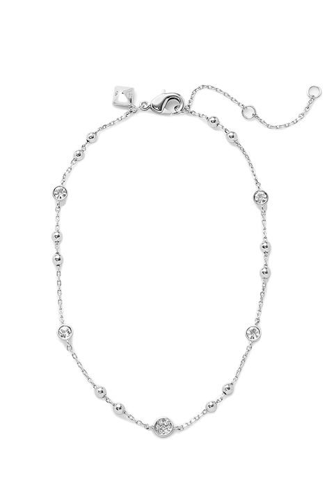 """<p>Rebecca Minkoff Beaded Crystal Anklet, $48; <a href=""""http://www.rebeccaminkoff.com/beaded-crystal-anklet?src=catalogsearch"""" target=""""_blank"""">rebeccaminkoff.com</a></p>"""