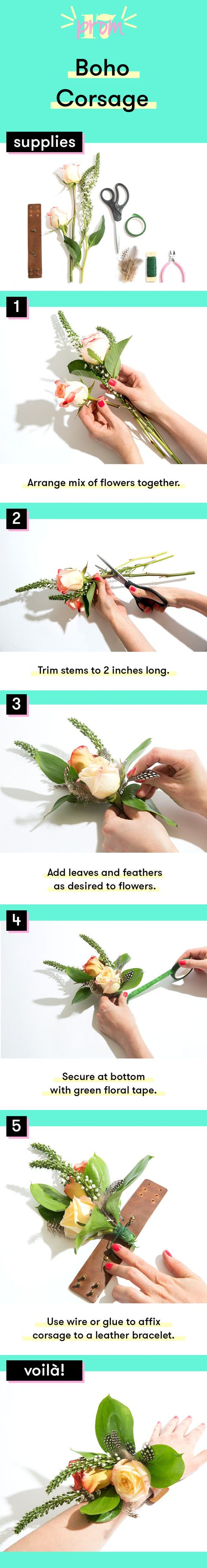 How To Make A Prom Corsage 7 Diy Ideas For Corsages Boutonnieres