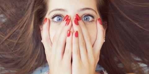 Finger, Lip, Hairstyle, Skin, Eyelash, Eyebrow, Iris, Nail, Organ, Beauty,