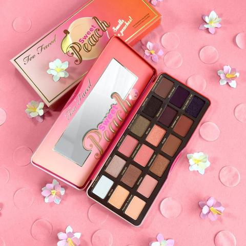 Pink, Magenta, Eye shadow, Cosmetics, Lavender, Material property, Peach, Box, Square,