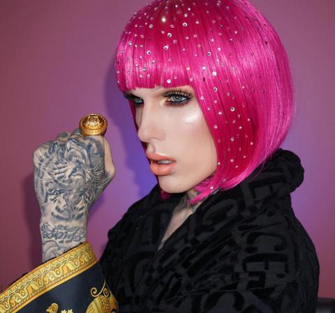 Pink, Magenta, Purple, Violet, Fashion, Bangs, Wig, Makeover, Artificial hair integrations, Eye liner,