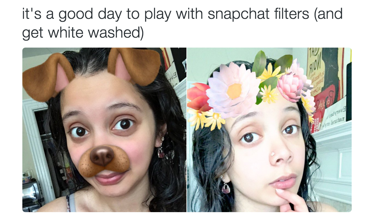 These Snapchat Filters Are Under Fire For Whitewashing Users