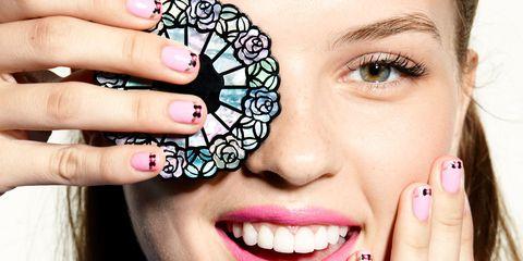 Blue, Finger, Smile, Lip, Skin, Eyebrow, Tooth, Eyelash, Nail, Happy,