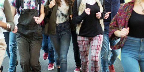 Clothing, Leg, Trousers, Denim, Jeans, Textile, Outerwear, Bag, Style, Street fashion,