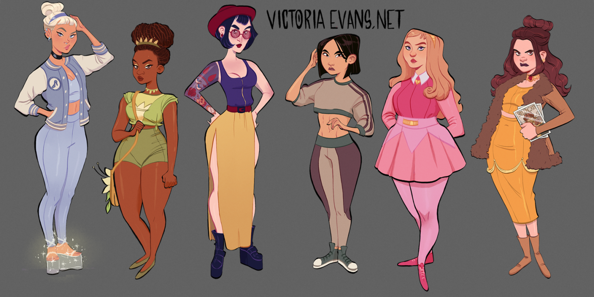 Artist Reimagined The Disney Princesses As Modern Teens