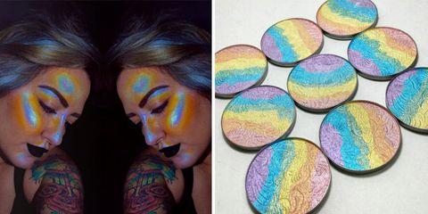 Colorfulness, Purple, Paint, Art, Violet, Art paint, Visual arts, Circle, Painting, Eye liner,