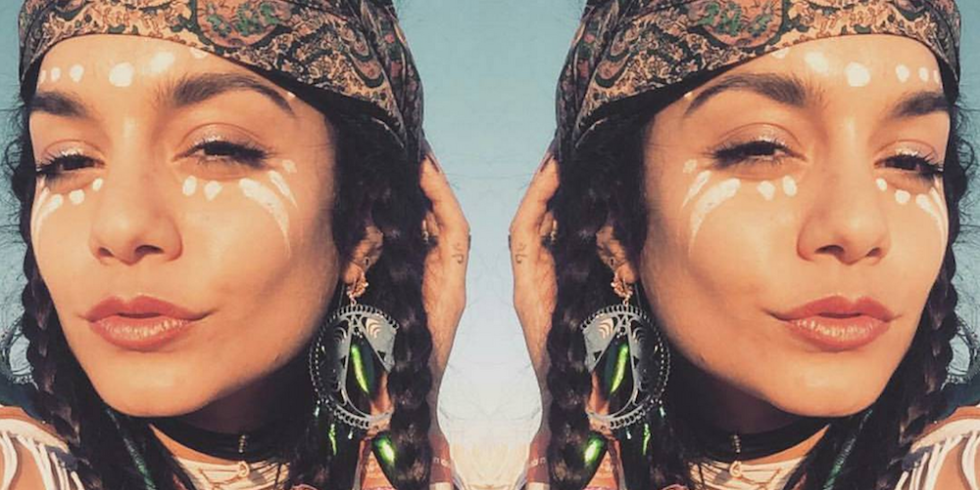 Fans Are Debating If Vanessa Hudgens Face Paint Is Cultural