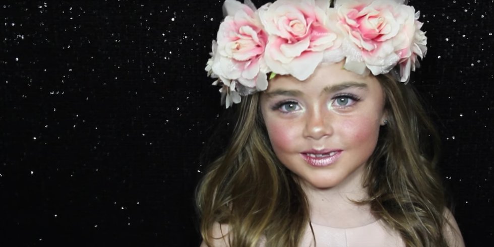 6 Year Old Makeup Artist Little Girl Makeup Tutorial