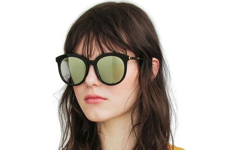 Eyewear, Glasses, Vision care, Lip, Hairstyle, Goggles, Style, Sunglasses, Earrings, Beauty,