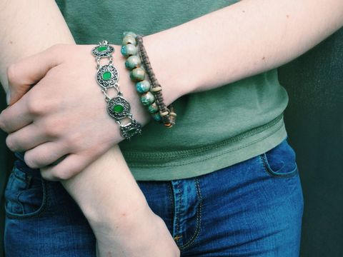Arm, Finger, Skin, Denim, Wrist, Textile, Hand, Joint, Jeans, Elbow,