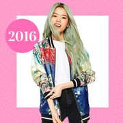 Sleeve, Collar, Textile, Pink, Style, Magenta, Street fashion, Fashion, Logo, Beauty,